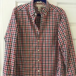 H&M shirt red and black size M